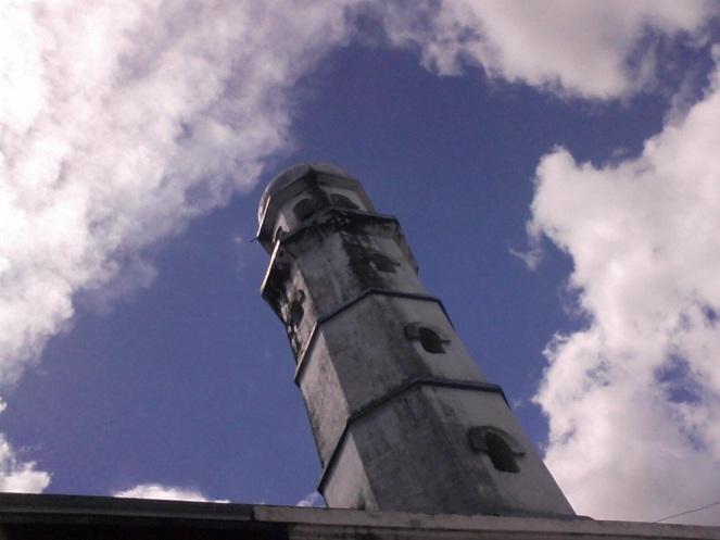 minarets through the clouds