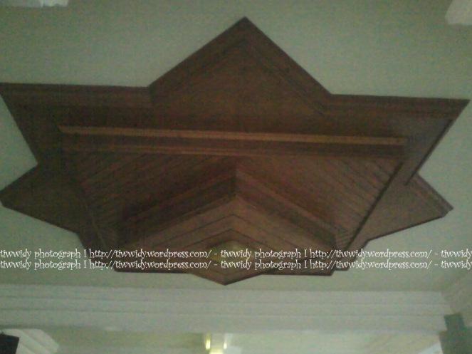 interior roof of Masjid Agung Rembang