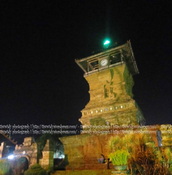 Kudus Minaret Mosque night view