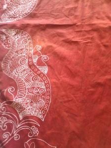 pola batik setelah diwarna