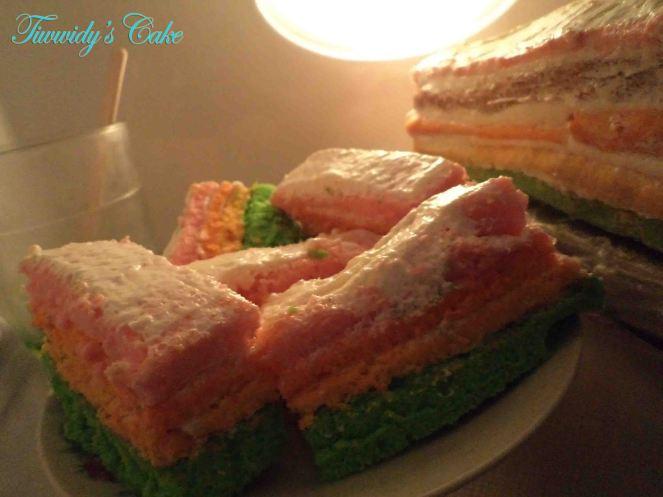 my hand made Rainbow Cake