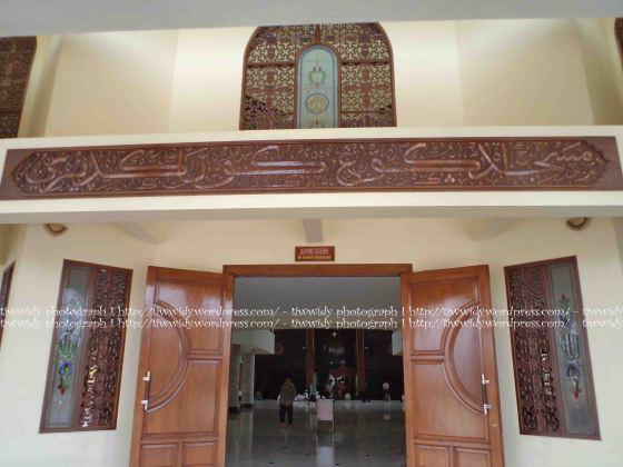Masjid Agung Kota Kediri in Arabic