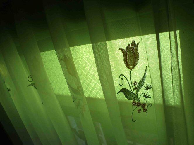 flower green curtain
