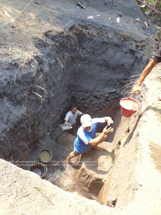 penggalian altar purba di Wates, Kediri