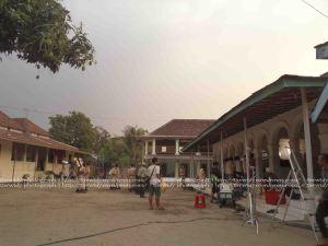 suasana shooting film Sang Kiai di pondok Kapu