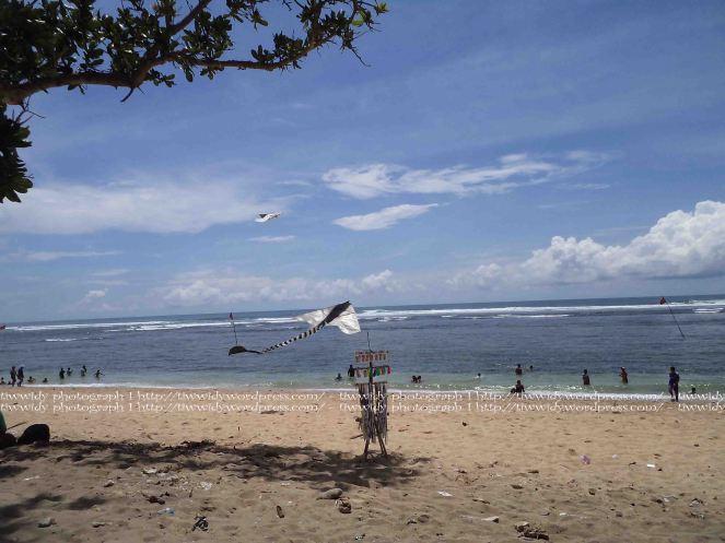 Bale Kambang Beach with flying kite