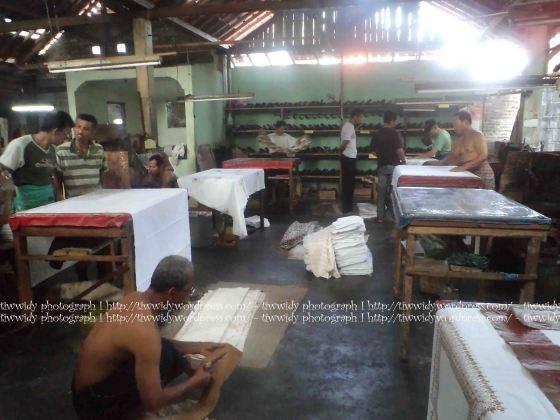 Suasana Rumah Produksi Batik Cap TOPO HP, Bantul, Yogyakarta