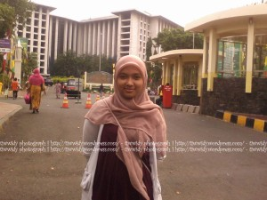 I'm standing exactly in front of Istiqlal Mosque..