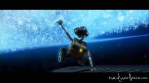 Wall-e chases EVE across the galaxy