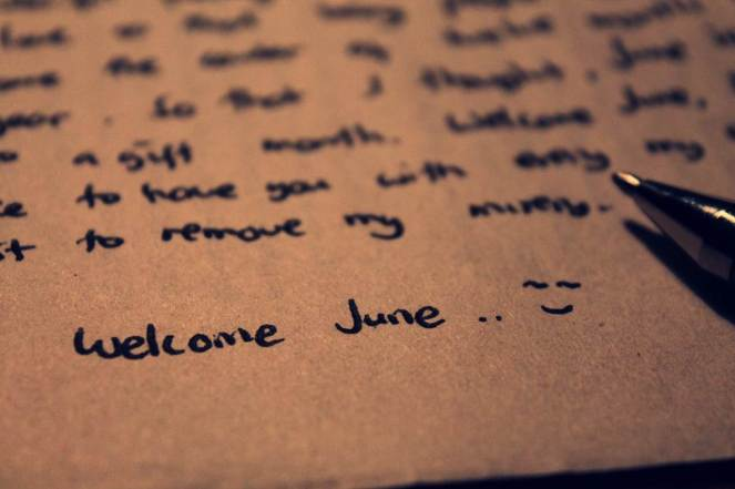 Welcome June!!