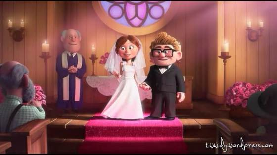 Carl and Ellie got married