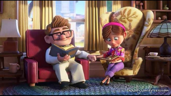 how sweet this screen shoot picture of UP Movie.. :')