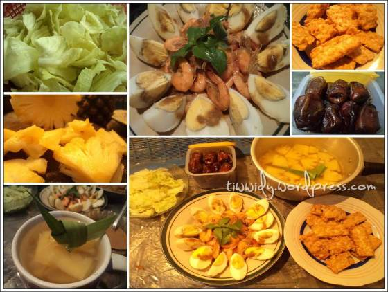#3rd Break Fasting (Pecel, Tempe, Udang Telur Saos Tiram, Nanas)