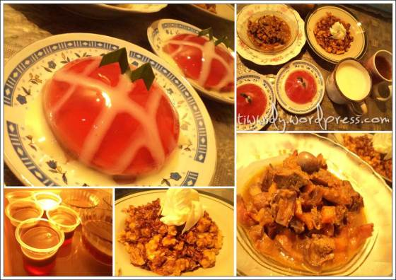 #5th Break fasting (Puding, Rempela Wortel, Kering Tempe, Susu, Teh)