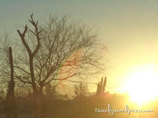 Senja Pelangi di Hulu Sungai Brantas Kediri