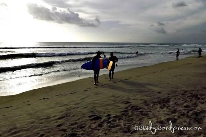 Foreign Surfer In Kuta Beach, Bali