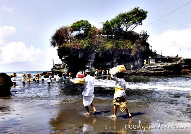 Segara Kerthih Ceremony in Tanah Lot. Bali