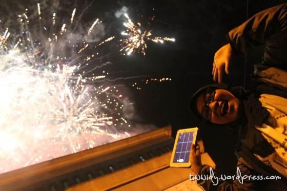 Selamat tahun Baru 2014 dari Simpang 5 Gumul, Kediri