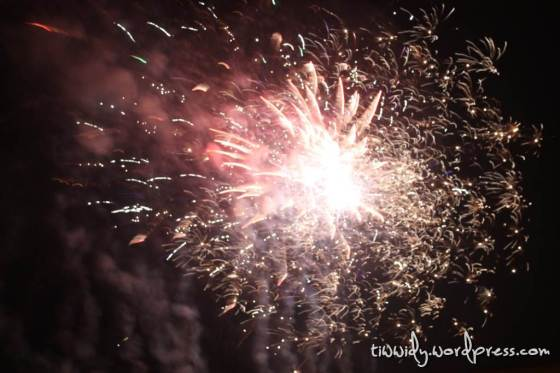 Fireworks on Simpang 5 Gumul, Kediri