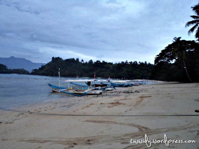 the very first morning on th White Sand Beach of trenggalek