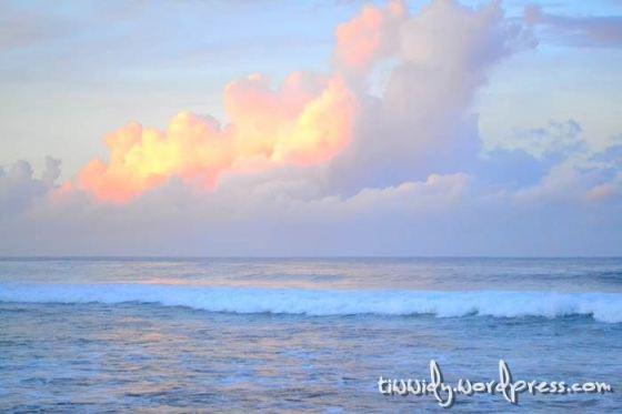 Sunrise diatas Horizon Pantai Selatan, Subhanallah